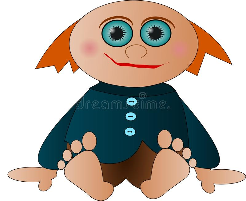 Bald little man royalty free stock photography