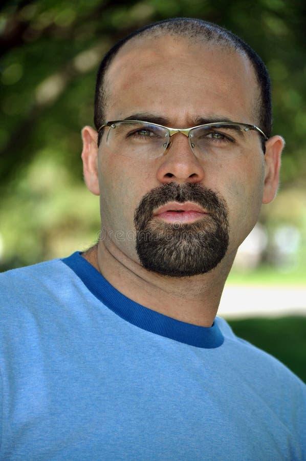 Download Bald  man stock photo. Image of look, mustache, goatee - 15926436