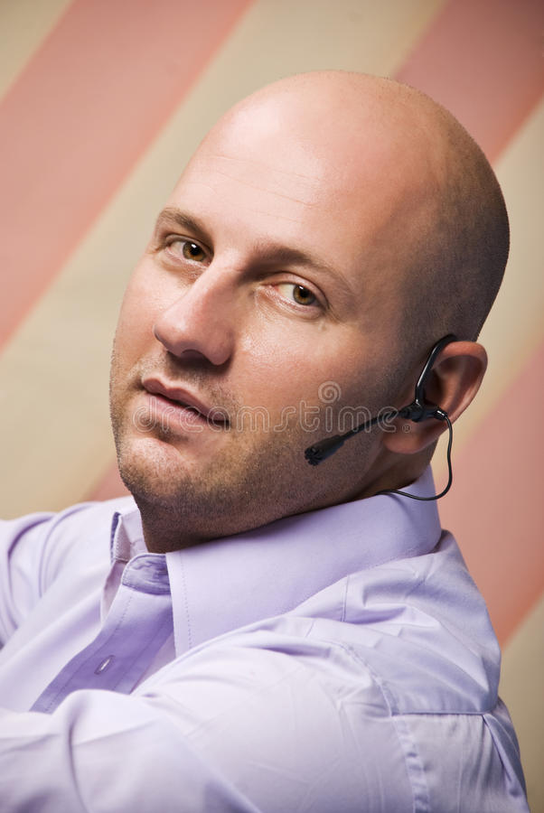 Download Bald man customer service stock photo. Image of adult - 10998848