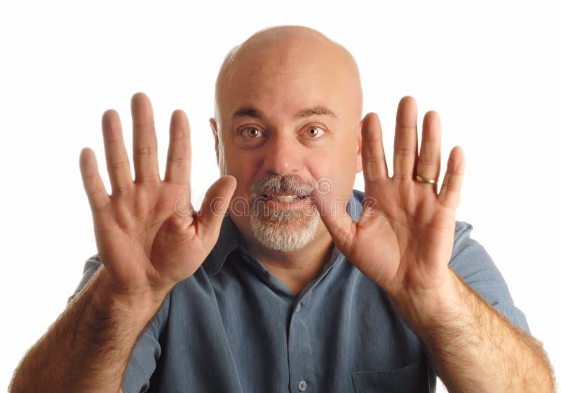 Download Bald Man Gesturing To Stop Stock Photos - Image: 6488313