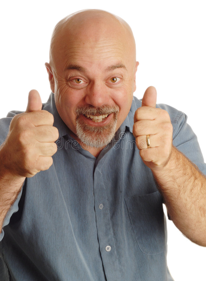 Download Bald man giving thumbs up stock image. Image of crazy - 6563135