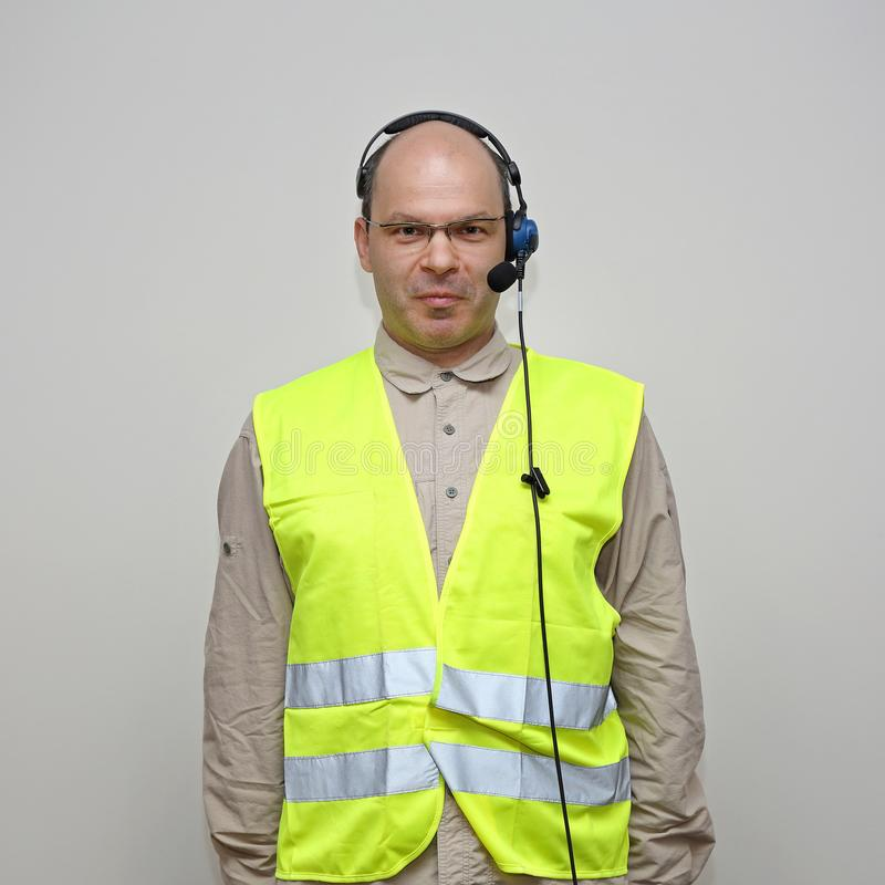Man Safety Vest stock photography