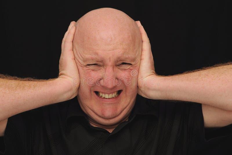 Bald Man With A Headache Royalty Free Stock Photo
