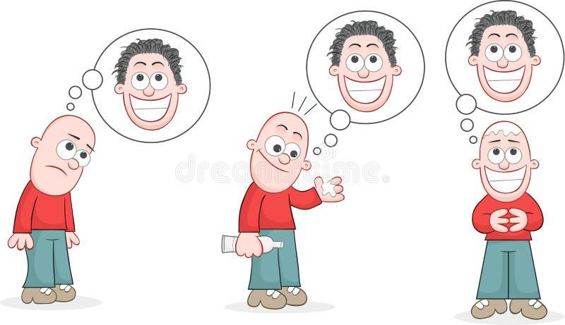 Download Bald Man Set stock illustration. Image of grow, hopeful - 36665180