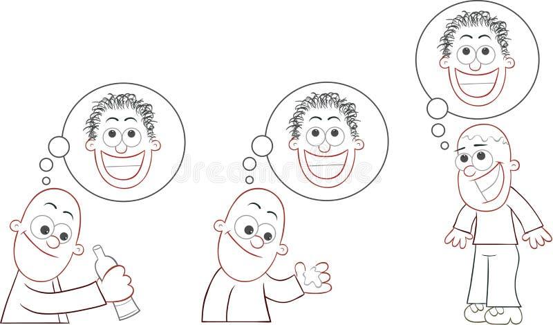 Download Bald Man Set stock illustration. Illustration of hairless - 37559045