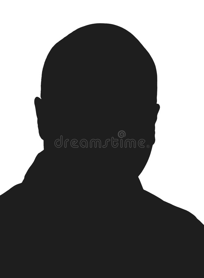 Bald man silhouette stock photos