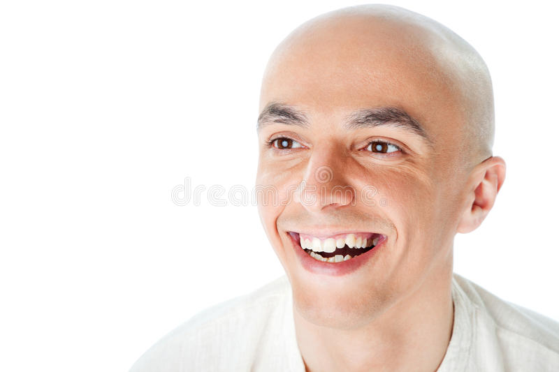 Download Bald man smiling stock image. Image of close, face, enjoy - 15368259