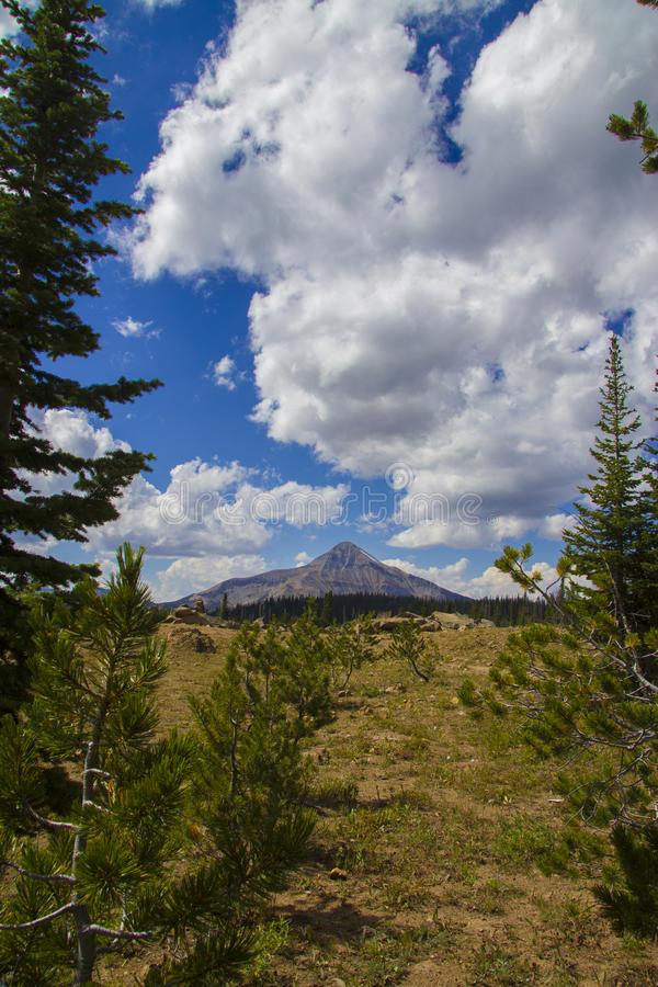 Bald Mountain In Big Sky Stock Images