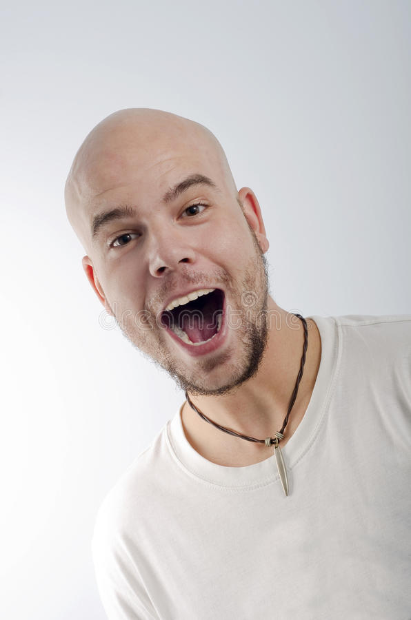 Bald Screaming Royalty Free Stock Images