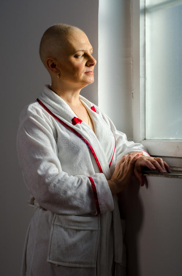 Download Bald Woman With Cancer In The Hospital Royalty Free Stock Photography - Image: 31989457