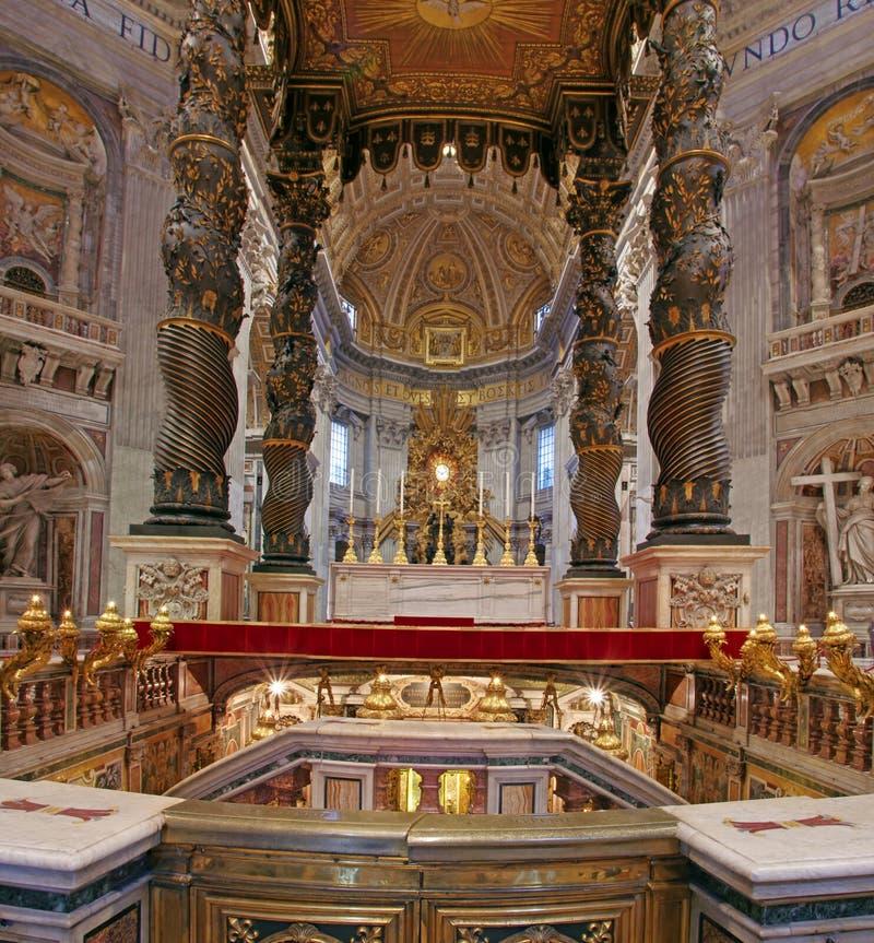 Baldacchino de Bernini foto de archivo libre de regalías