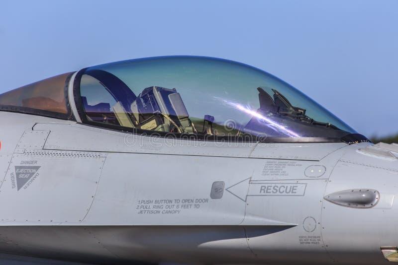 Baldacchino dell'aereo da caccia immagini stock
