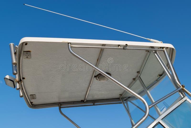 Baldacchino della barca fotografia stock