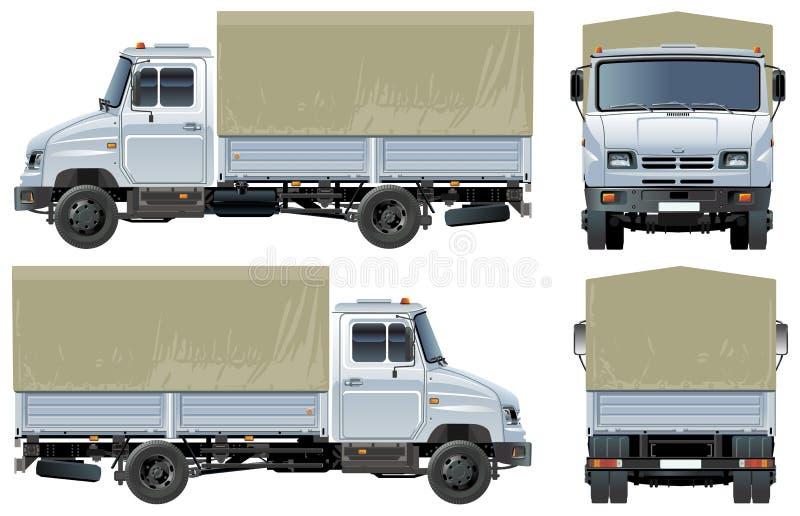 baldachimu ładunku doręczeniowej ciężarówki wektor ilustracja wektor