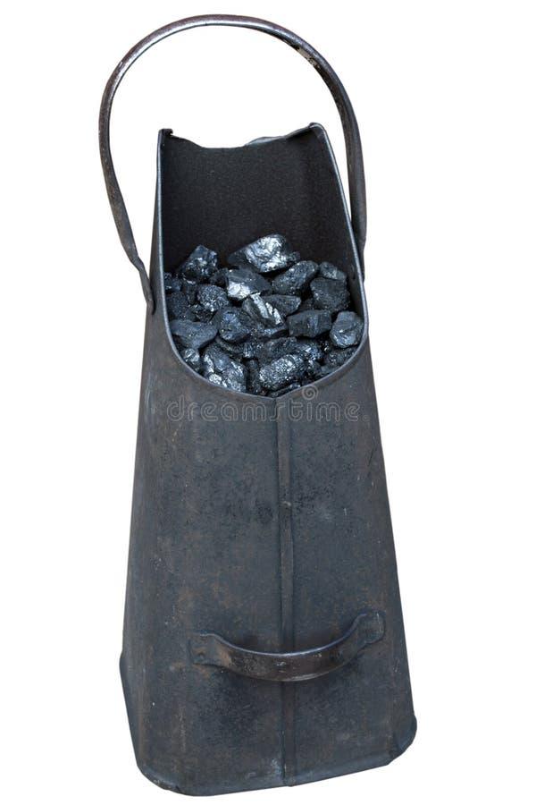 Balde de carbón foto de archivo