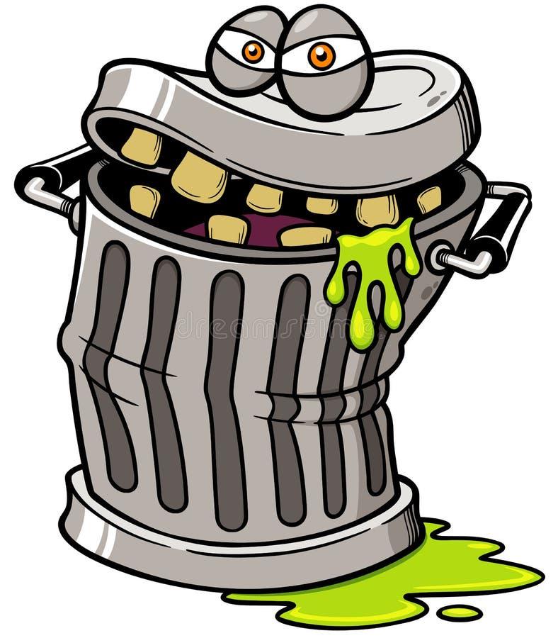 Balde do lixo ilustração royalty free