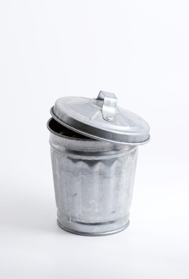 Balde do lixo foto de stock