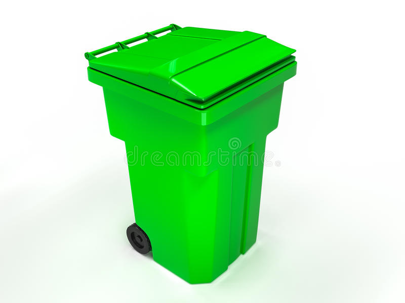 Balde do lixo plástico ilustração do vetor