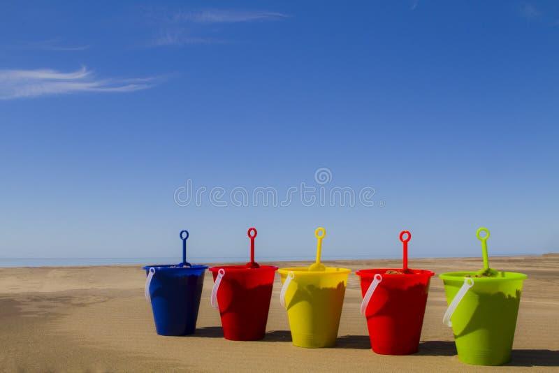 Baldes da areia imagens de stock