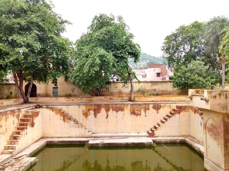 Baldev Parshuram temple's stepwell royalty free stock images