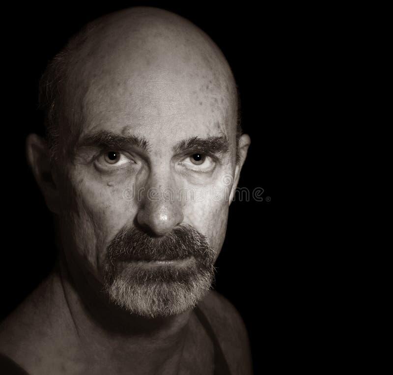 Balding Mann stockfotografie