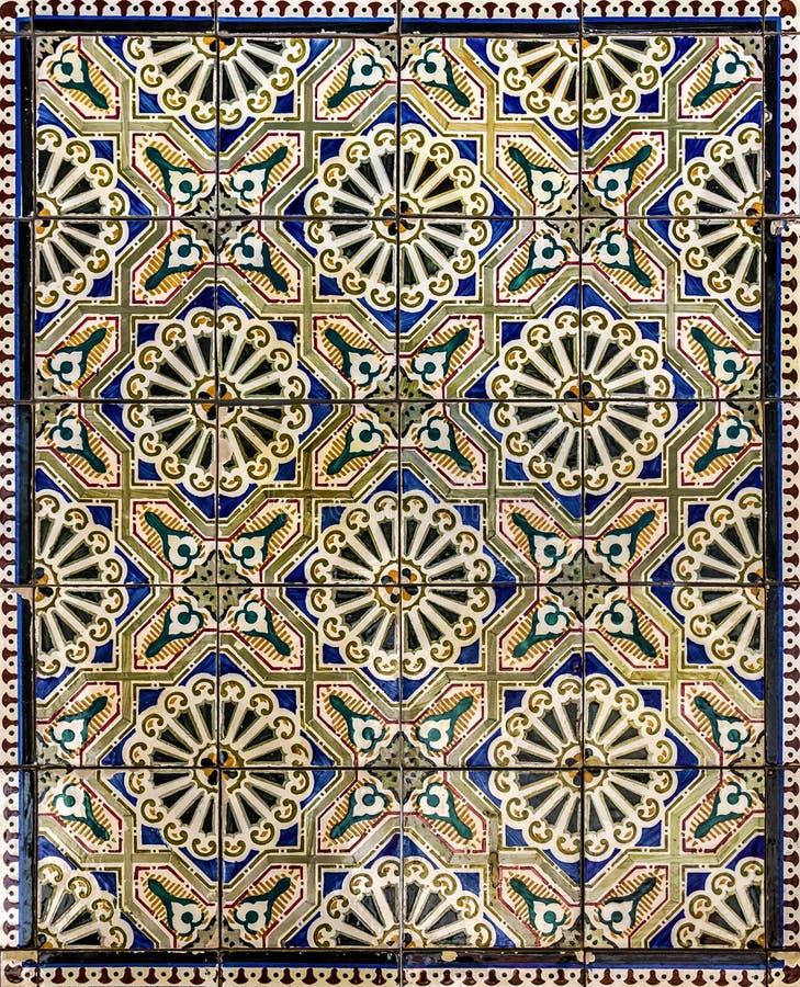 Baldosa cerámica antigua, museo Azulejo, Lisboa, Portugal foto de archivo libre de regalías