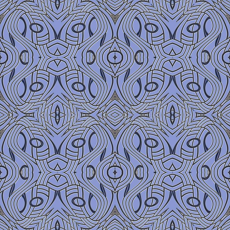 Baldosa cerámica, azulejos, textura típica del portugués ilustración del vector