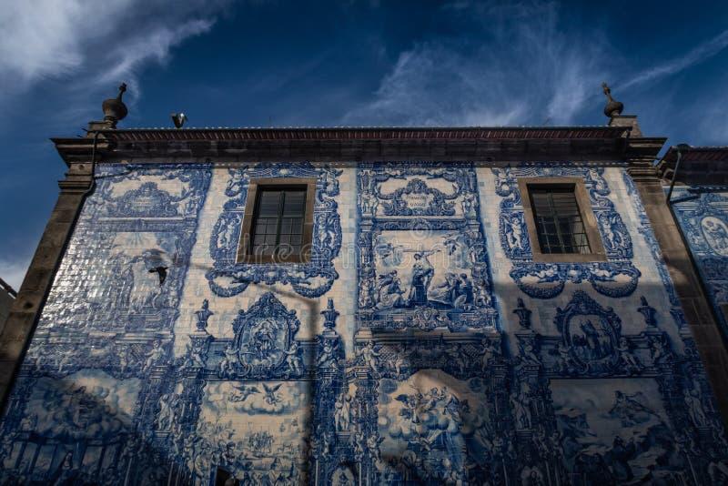 Baldosas azules en Oporto, Portugal fotografía de archivo libre de regalías