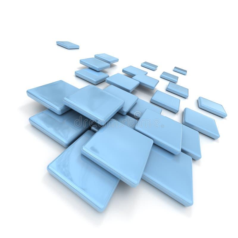 Baldosas cerámicas azul claro stock de ilustración