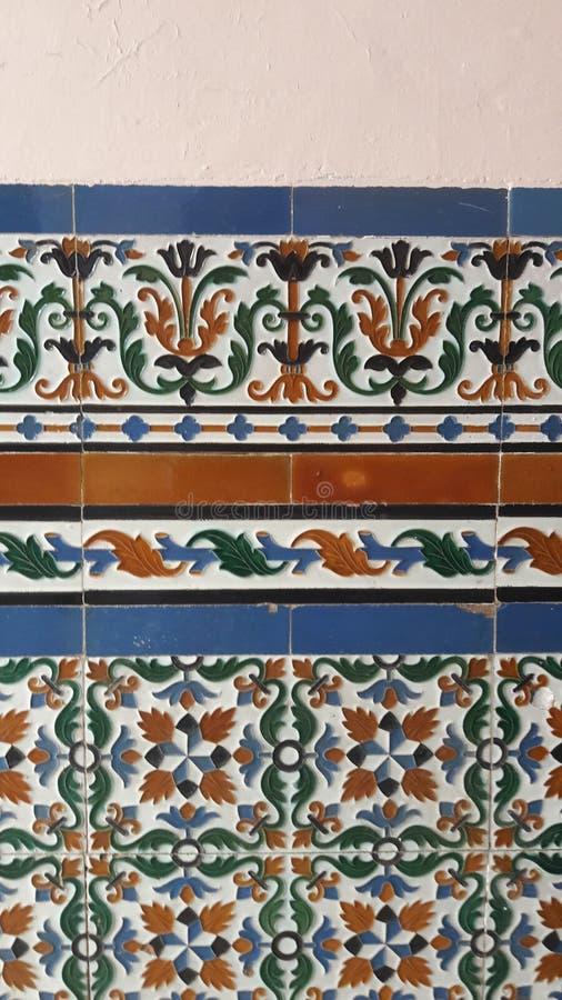 Baldosas cerámicas de Andalucía, España fotografía de archivo libre de regalías