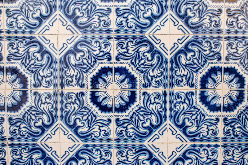 Baldosas cerámicas portuguesas imagen de archivo