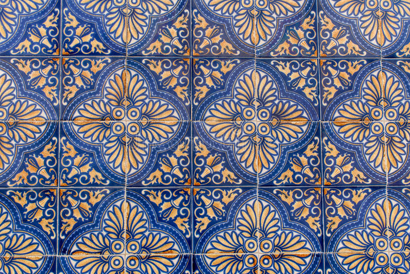 Baldosas cerámicas portuguesas foto de archivo