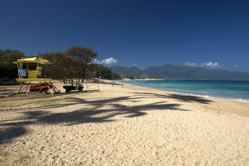 Baldwin Beach norr kust, Maui, Hawaii royaltyfria bilder