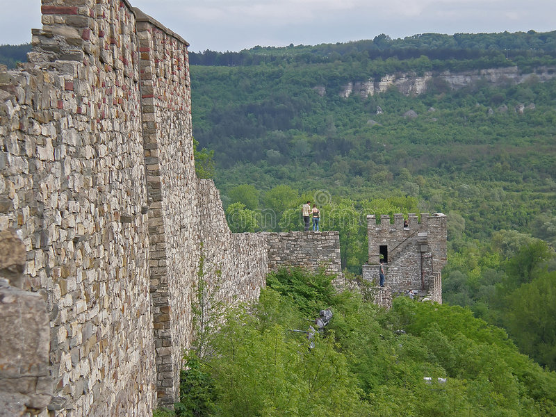Baldwin Kontrollturm Tsarevets Festung lizenzfreies stockfoto