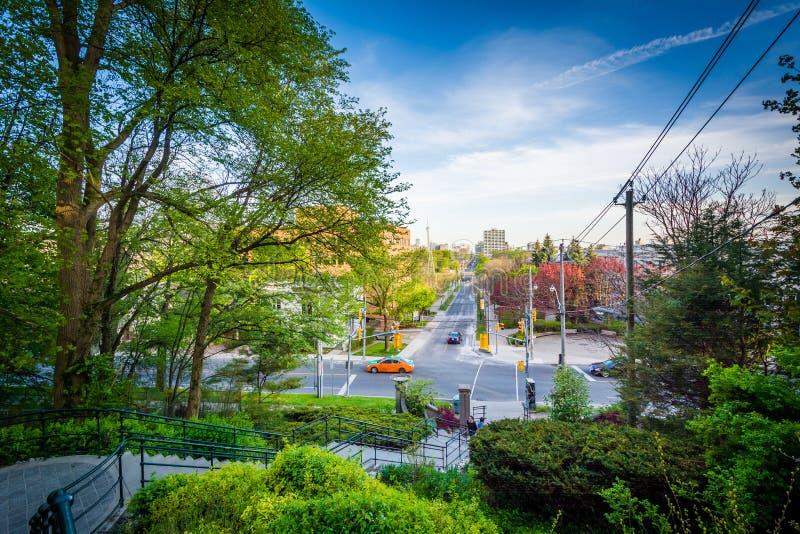 Baldwin Steps en el parque de Spadina, en el Midtown Toronto, Ontario fotos de archivo libres de regalías