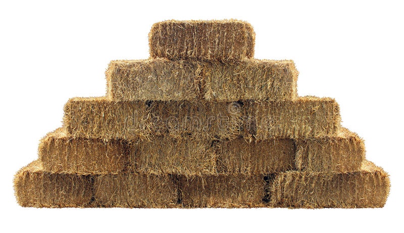 Download Bale of Hay Wall stock image. Image of single, background - 31670925