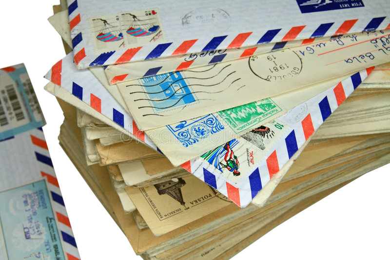 Bale of old letters stock photography