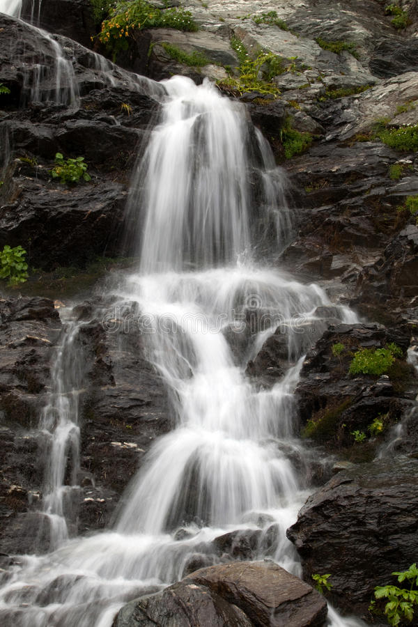 Balea cascade. Located in Transfagarasan, Romania royalty free stock photo