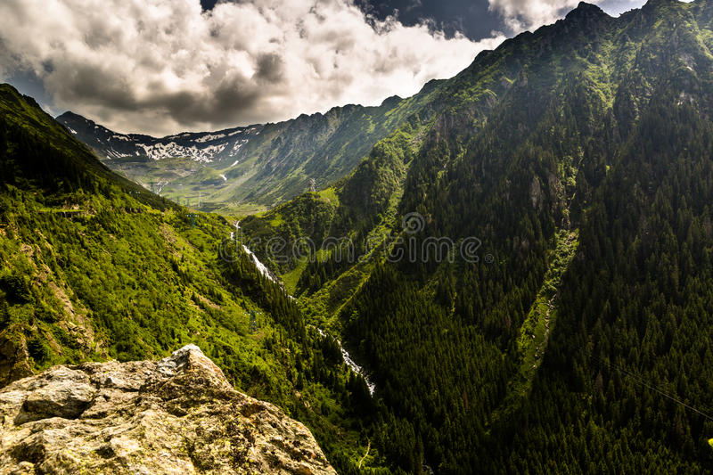 Balea Fall, Transfagarasan. Beautiful and green Balea Fall, Transfagarasan stock photos