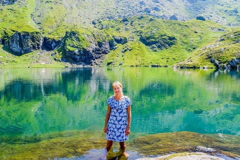 Balea Glacier Lake, Romania stock photography