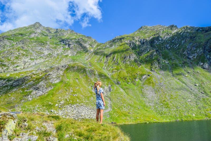 Balea Glacier Lake, Romania stock image
