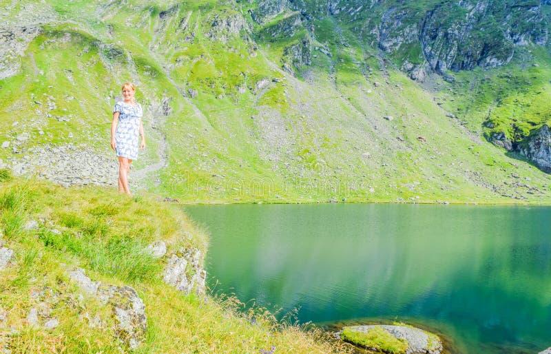 Balea Glacier Lake, Romania stock images