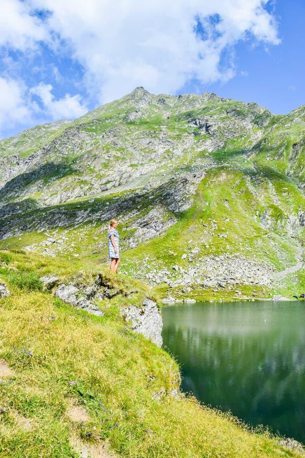 Balea Glacier Lake, Romania royalty free stock photo