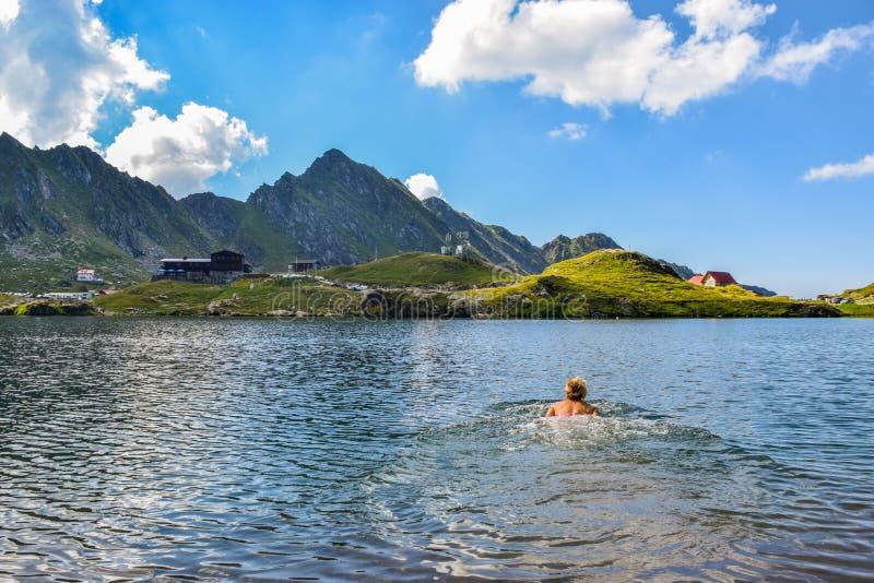 Balea Glacier Lake, Romania royalty free stock image