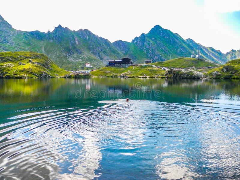 Balea Glacier Lake, Romania royalty free stock images