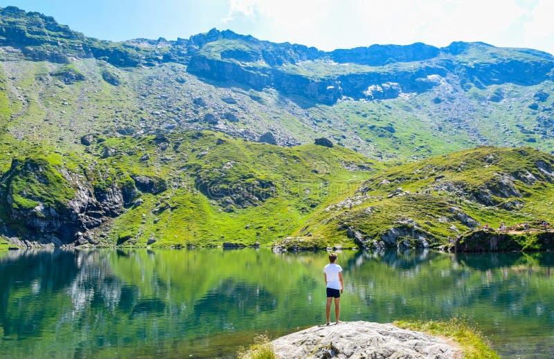 Balea Glacier Lake, Romania royalty free stock photos
