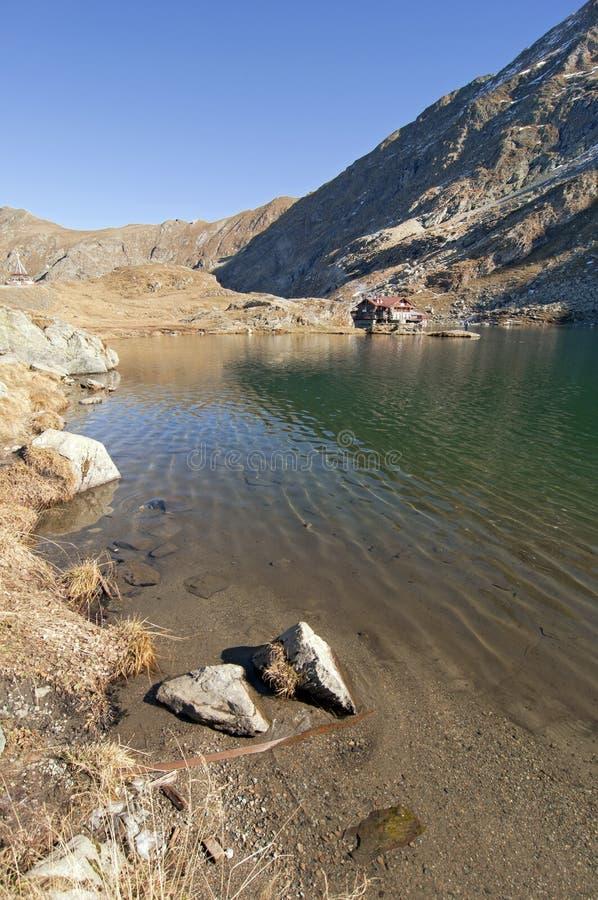 Balea lac lake. In Carpathians, Fagaras Mountains royalty free stock photography