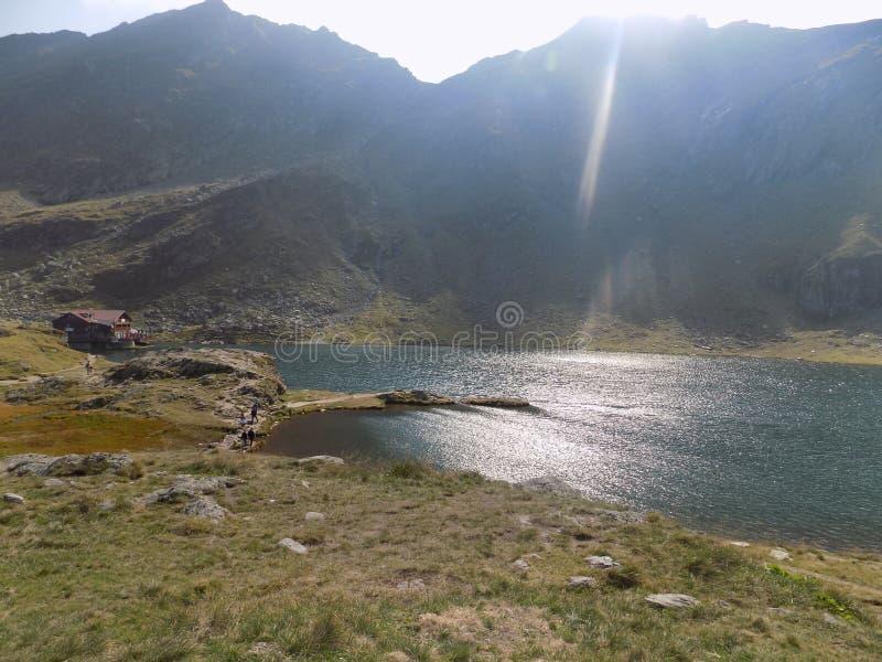 Balea Lake royaltyfria foton