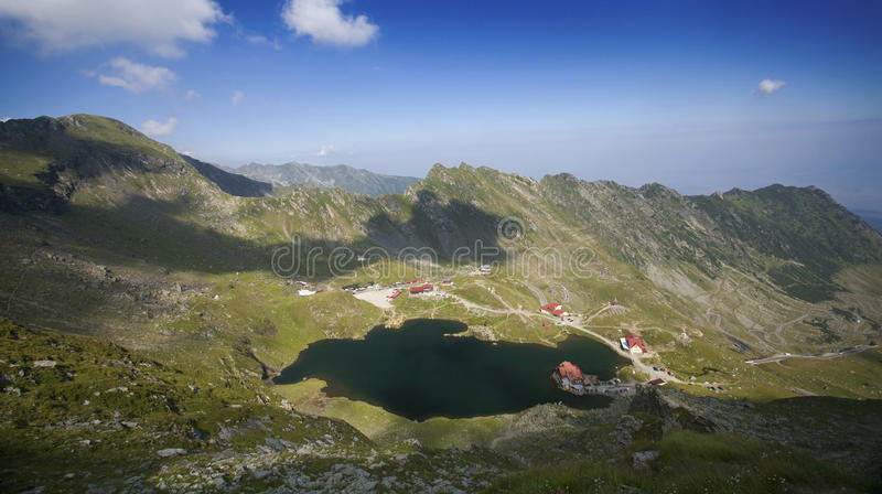 Balea Lake, Fagaras Mountains, Transylvania, Romania. Landscape of Balea Lake, Fagaras Mountains, Transylvania, Romania royalty free stock image