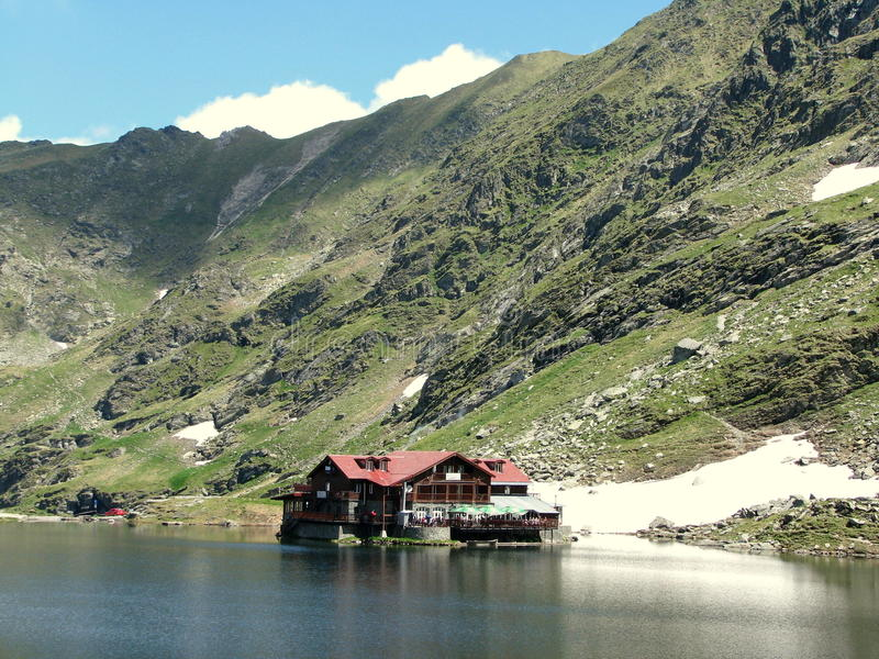 Balea Lake. Picture taken at Balea Lac royalty free stock photos